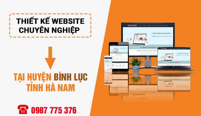 Thiết kế website tại huyện Bình Lục Hà Nam