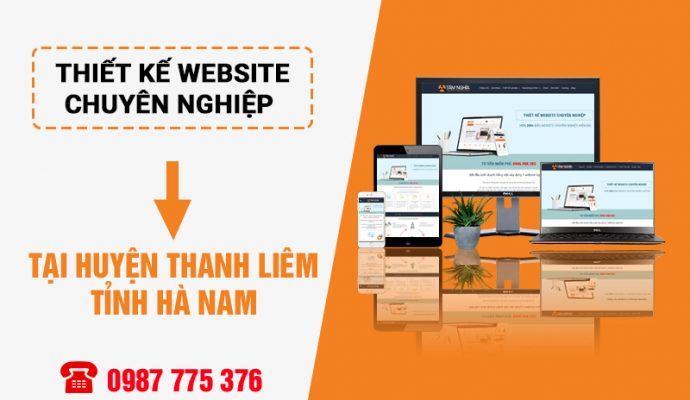 Thiết kế website tại huyện Thanh Liêm Hà Nam